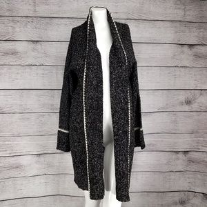 NEW RDI Open Front Long Cardigan Sweater Marled M
